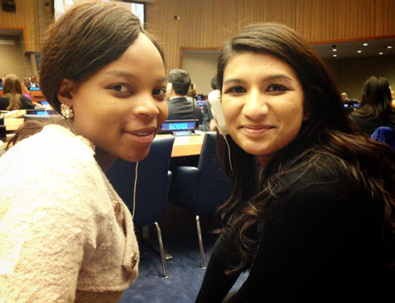 Thandiwe and Neha during the ECOSOC Youth Forum-640
