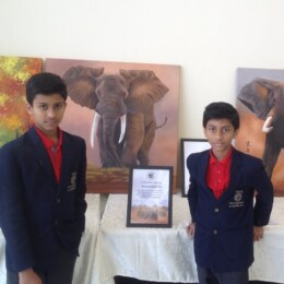 Rahul and Rohan's Exhibitions in school to save environment